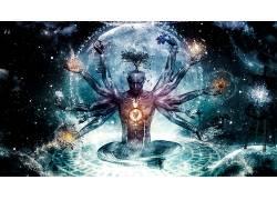 迷幻,神,抽象,卡梅伦格雷,迷幻650139