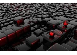 立方体,给予,球,领域,CGI,数字艺术,抽象,简单,3D60800