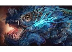 迷幻,龙,抽象,迷幻,分形650131
