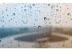 水滴,抽象,玻璃上的水45871