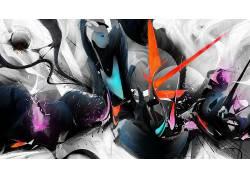 数字艺术,华美,油漆飞溅,抽象274879