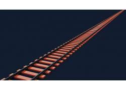 铁路,培养,抽象,橙子,给予,CGI,搅拌机,现代,简单,极简主义,3D,数