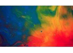 数字艺术,华美,艺术品,抽象,蓝色,黄色,红,绿色208399