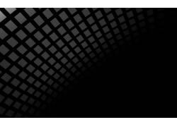 数字艺术,单色,广场,极简主义,黑色的背景,抽象,几何445266