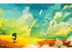 艺术品,数字艺术,绘画,华美,火箭,发射,抽象,梦想的690802