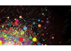 艺术品,数字艺术,颜色爆裂,抽象,飞溅,黑色背景690811