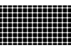 极简主义,广场,线,点,黑色,白色,光学错觉,单色,抽象,艺术品17641