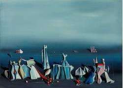 艺术品,超现实主义,绘画,抽象,几何,Yves Tanguy,油画,静物571037