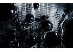 泡泡,格,金属,领域,抽象,数字艺术358