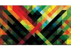非洲高科技,安迪吉尔摩,抽象,几何,华美,模式,低聚26473
