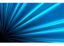 蓝色,光束,抽象,线,数字艺术57633