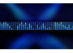 音乐,DJ,音频频谱,数字艺术,抽象,CGI,蓝色,长方形,灯火112961
