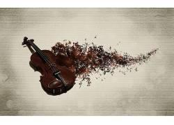音乐,小提琴,数字艺术,抽象,乐器36456