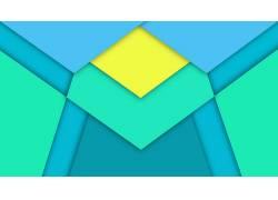 极简主义,抽象,数字艺术,线,三角形,钻石,材料风格165969