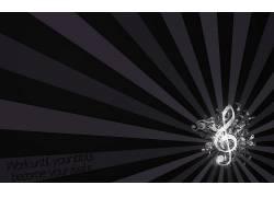 音符,音乐,抽象,紫色,简单的背景100142