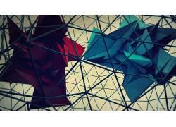 数字艺术,抽象,3D,CGI,三角形,格,pyxArtz454770