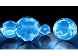 领域,抽象,形状,蓝色,反射495738