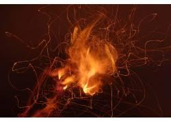 火,抽象,黑暗438640