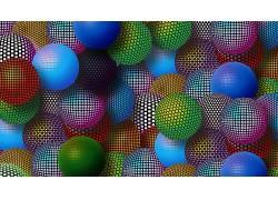 领域,球,抽象,数字艺术250402