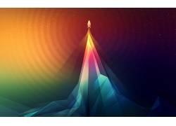 火箭,飞船,抽象,艺术品,华美680889
