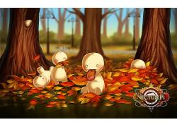 Cryaotic,模因,吉祥物,树木,秋季,树叶,舌头,动物355416