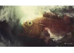 Desktopography,性质,动物,鱼,数字艺术,艺术品87949