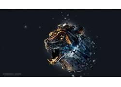 Desktopography,狮子,数字艺术,亚当Spizak,动物87945