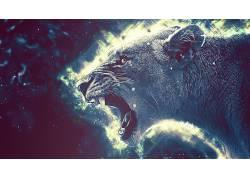数字艺术,动物,女狮子397483图片