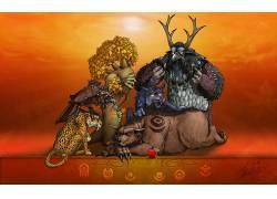 德鲁伊,视频游戏,魔兽世界,动物478503