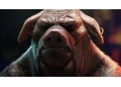 视频游戏,猪,动物,超越善良&邪恶2,伤疤,超越善良&邪恶