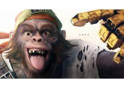 视频游戏,超越善良&邪恶2,猴,动物,舌头,牙,诺克斯,超越善良