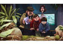 Gabirotcho,数字艺术,粉丝艺术,哈利・波特与魔法石,动物园,蛇,栖