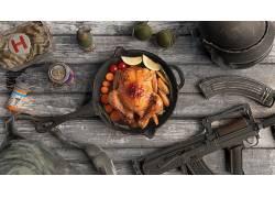 PUBG,泛,枪,烤鸡,死亡,肉,动物,鸟类,鸡627478