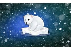动物,北极熊,艺术品633336