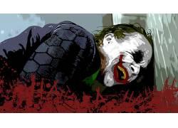 电影,蝙蝠侠,黑暗骑士,滑稽角色,MessenjahMatt,油漆飞溅52034