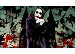 电影,蝙蝠侠,黑暗骑士,滑稽角色,MessenjahMatt,牌,油漆飞溅52032