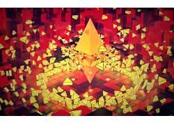 电影院4D,Photoshop中,抽象,平面设计,给予,3D,三角形433752