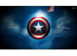 美国队长,活版印刷,旗,惊奇的电影宇宙,屏蔽,数字艺术391972
