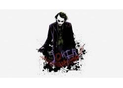 电影,蝙蝠侠,黑暗骑士,滑稽角色,油漆飞溅,MessenjahMatt,白色背