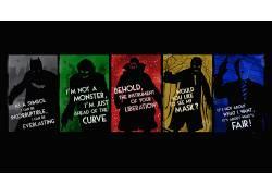 黑暗骑士,DC漫画,蝙蝠侠,活版印刷,引用,恶棍,滑稽角色,诛戮,稻草