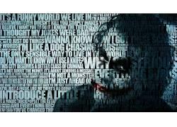 黑暗骑士,希斯莱杰,电影,引用,动漫,滑稽角色,蝙蝠侠,活版印刷293
