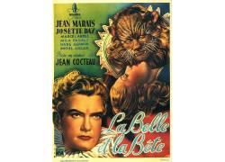 美女和野兽,Jean Cocteau,电影海报,La Belle et laBête,电影海
