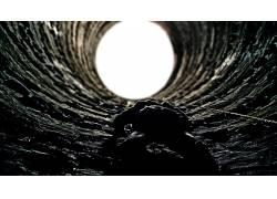 黑暗骑士崛起,坑,电影,蝙蝠侠45536