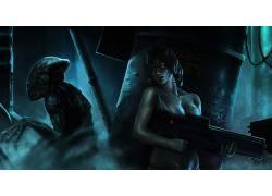 艺术品,科幻小说,萨尔瓦多特拉卡尔,外星人(电影)102125