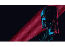 艺术品,终结者,半机械人,电影,科幻小说,头骨,T-800678570