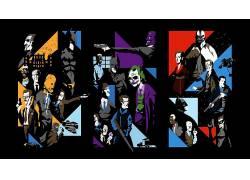 蝙蝠侠,滑稽角色,稻草人(人物),双面人,诛戮,猫女,蝙蝠侠侠影之