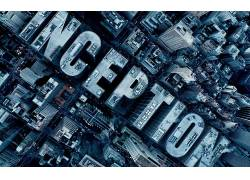 盗梦空间,摩天大楼,鸟瞰图,活版印刷,市,电影,数字艺术40809