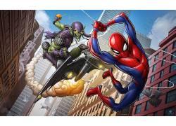 蜘蛛侠,漫画,绿色小妖精,电影,漫威漫画,纽约市566351