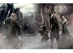 电影,霍比特人:五军之战,甘道夫,莱格拉斯,塔瑞尔,精灵,巫师,瑟