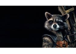银河护卫队,漫画,电影,火箭浣熊,艺术品,虚构,黑色的背景258492